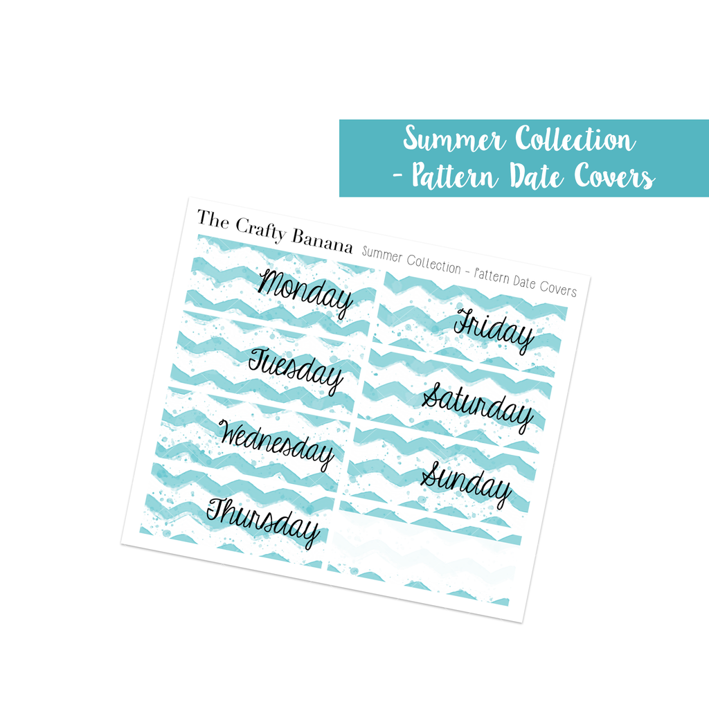 Summer Collection - Pattern Date Covers