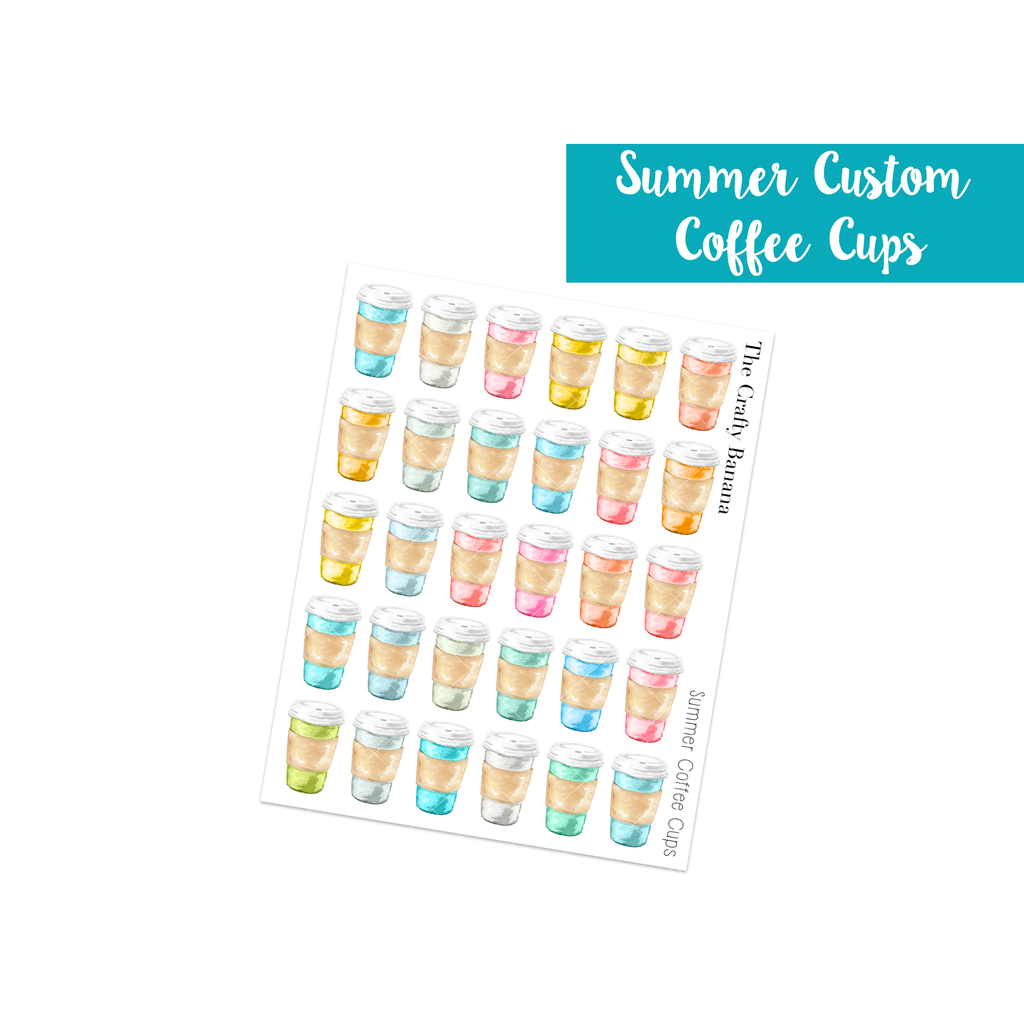 Summer Customizable Coffee Cups
