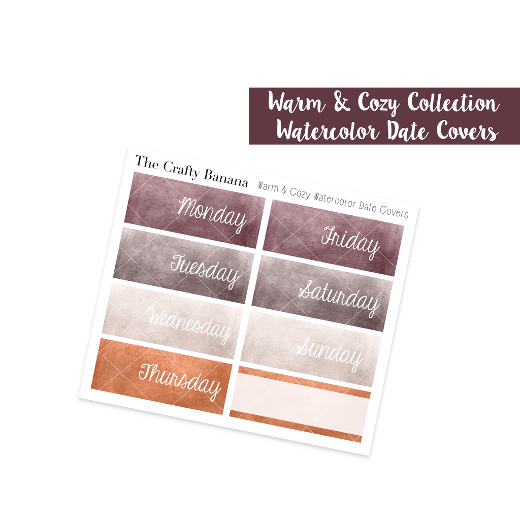 Warm & Cozy Watercolor Date Covers