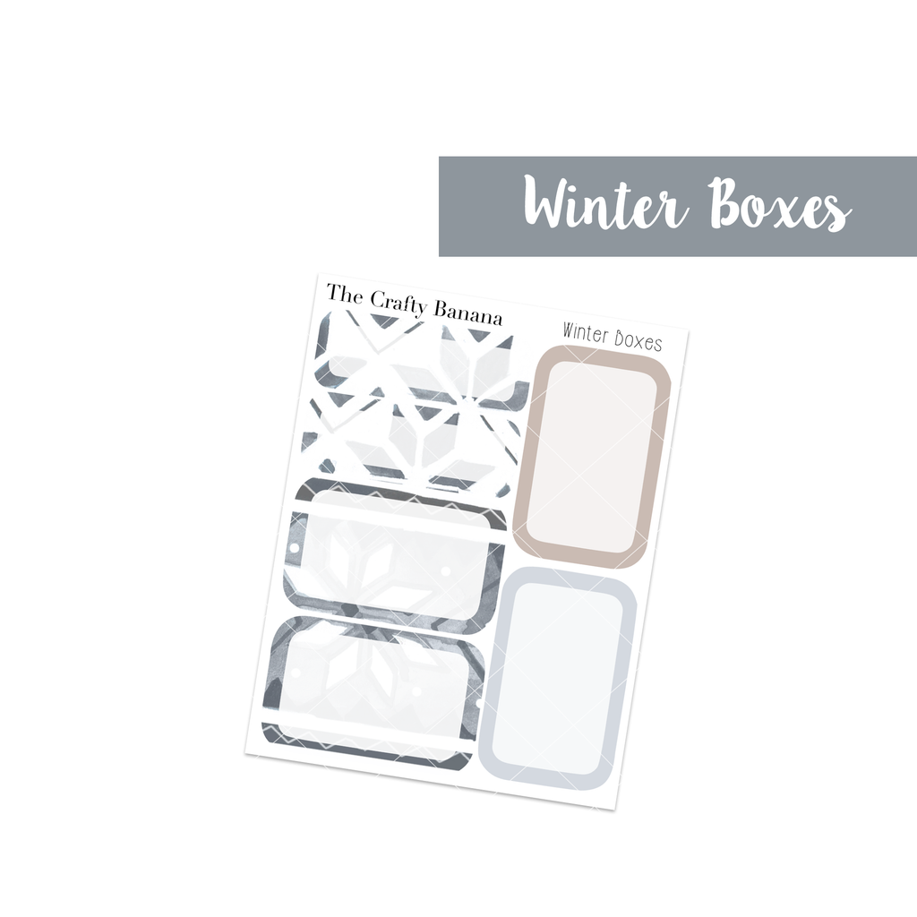 Winter Collection: Round Boxes