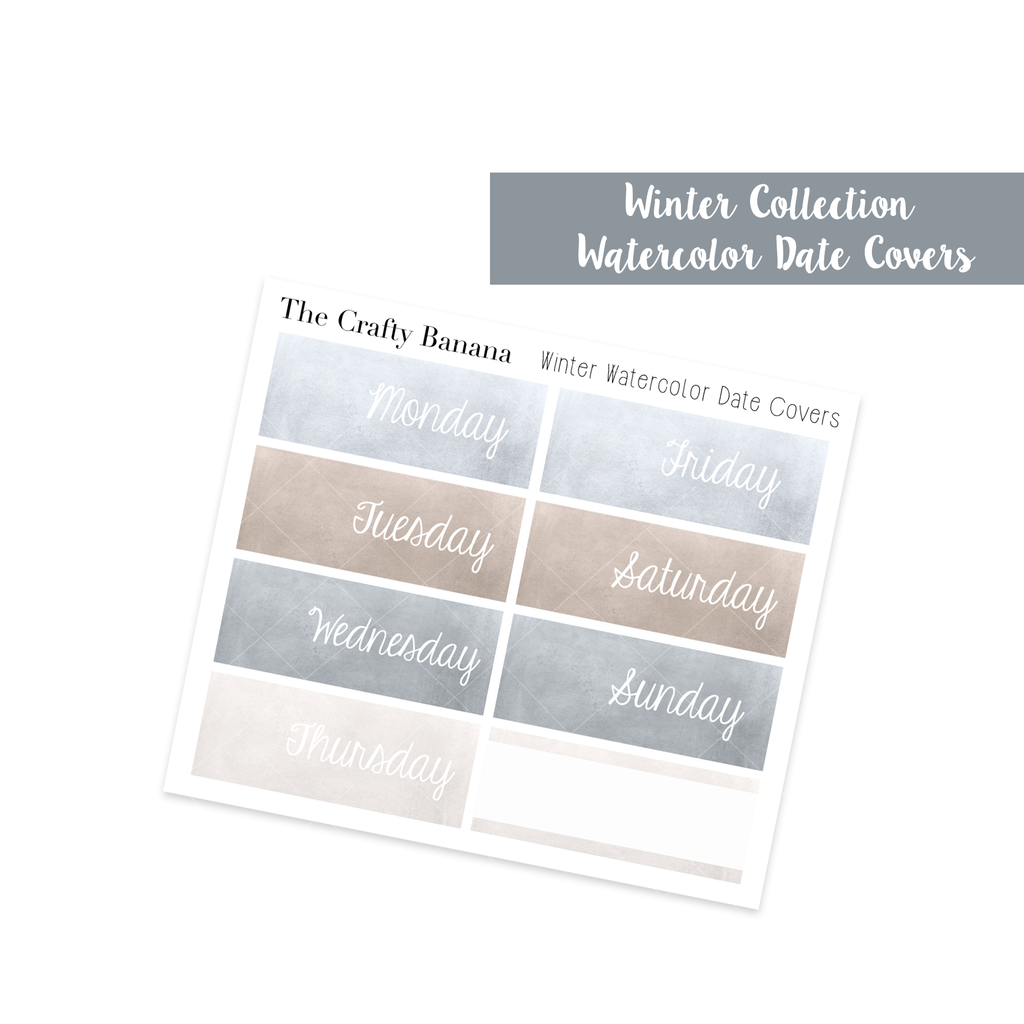 Winter Collection: Watercolor Date Covers