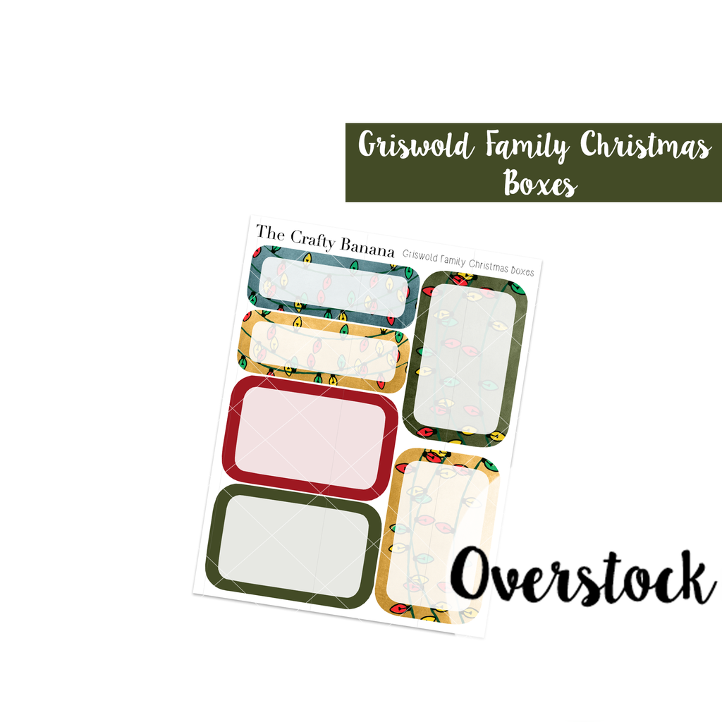 OVERSTOCK: Christmas Vacation Planner Stickers - Griswold Family Christmas Boxes - Christmas Stickers - 7 Sheets