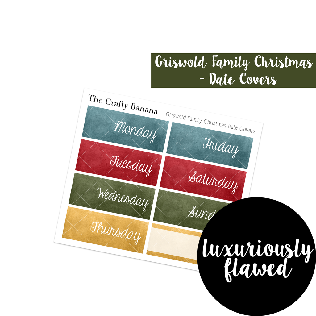 FLAWED: Christmas Vacation Planner Stickers - Griswold Family Christmas Date Covers - Christmas Stickers - 1 Sheet