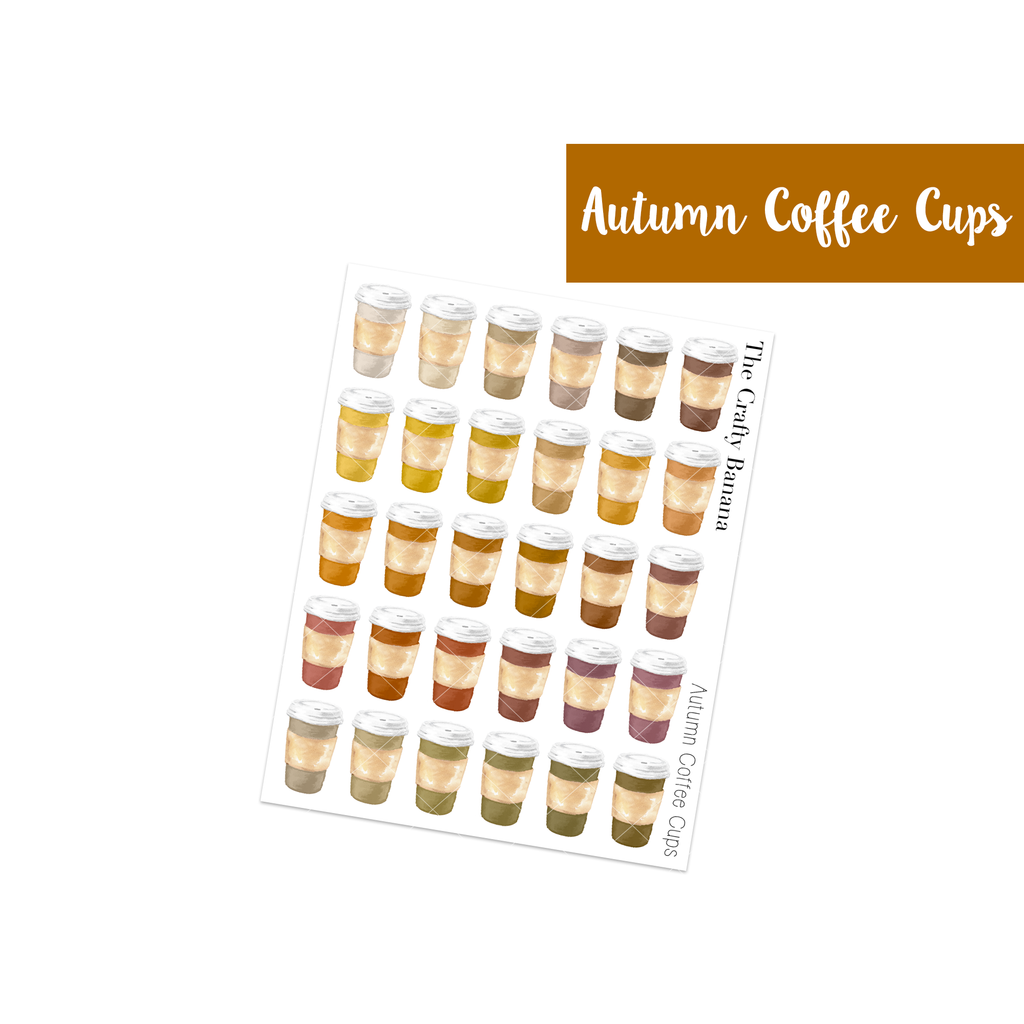 Autumn Customizable Coffee Cups