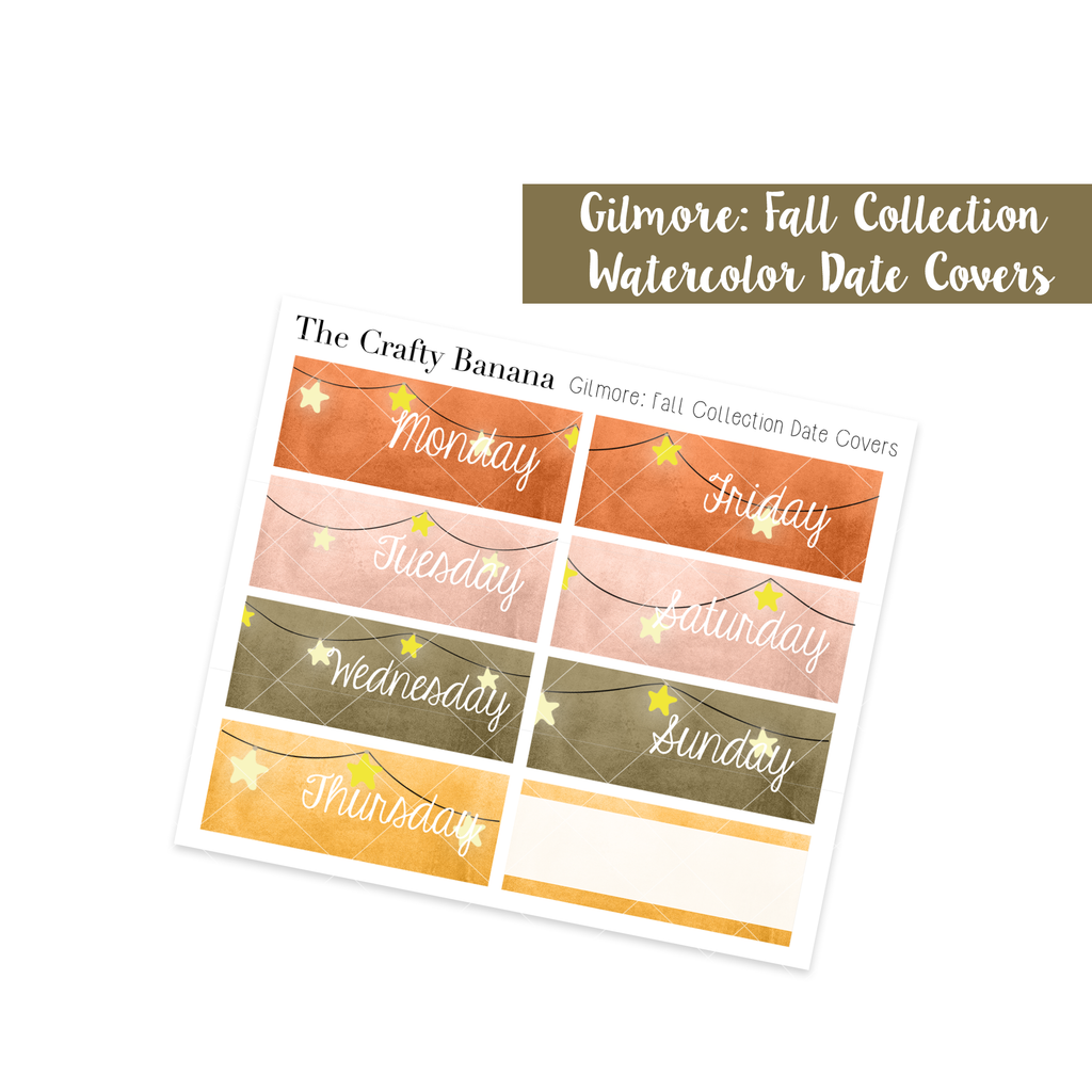 Gilmore: Fall Collection - Stars + Watercolor Date Covers