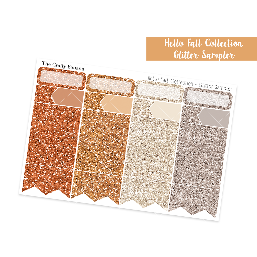 Hello Fall Glitter Sampler