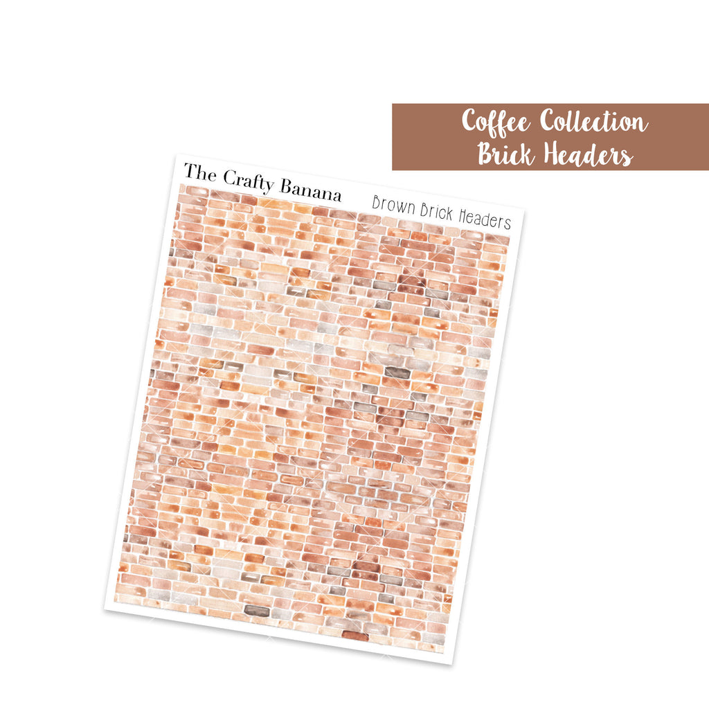 Coffee Collection: Brick Decorative Headers