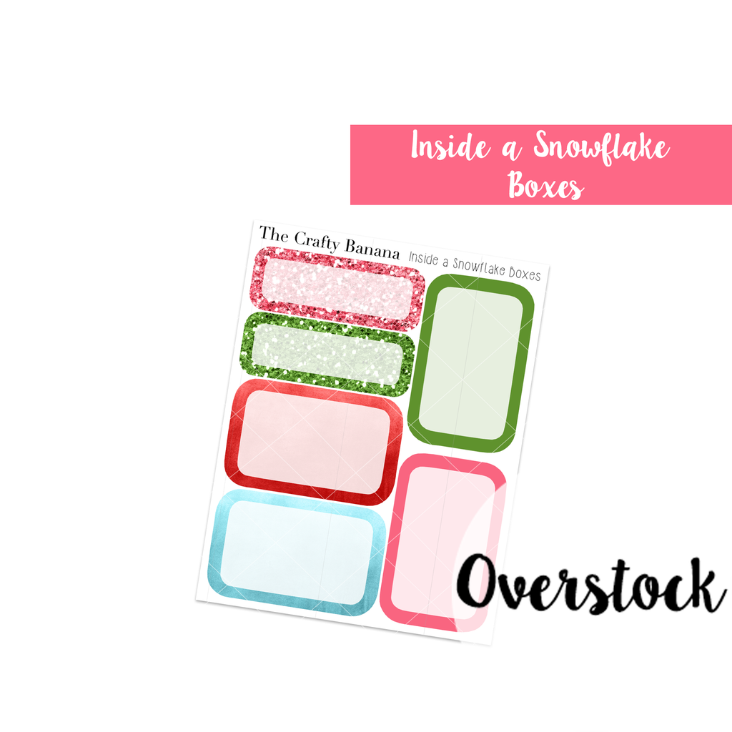 OVERSTOCK: Grinch Half Box Stickers - Inside a Snowflake Boxes - Half Box Stickers - 1 Sheet