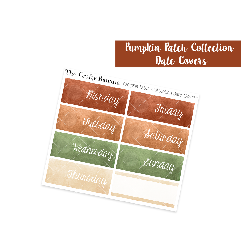 Pumpkin Patch Watercolor Date Covers