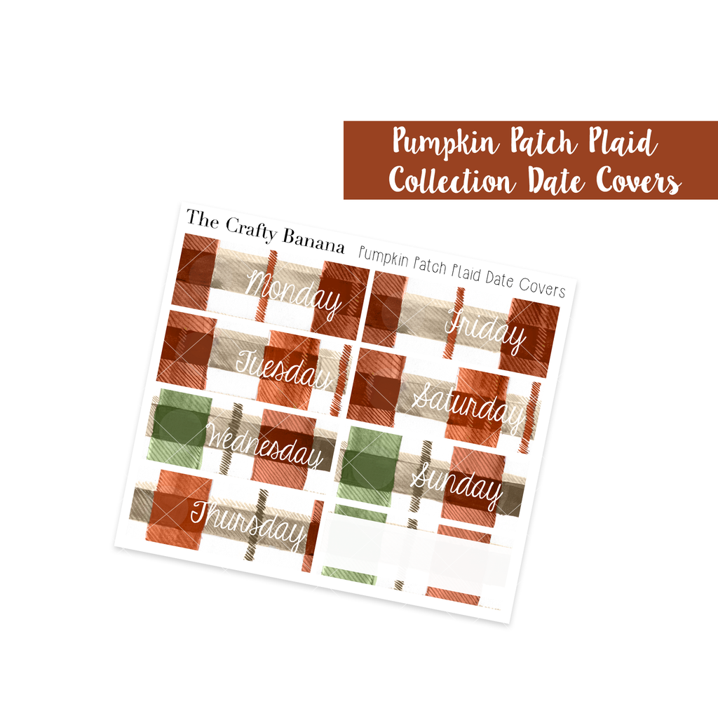 Pumpkin Patch Plaid Date Covers