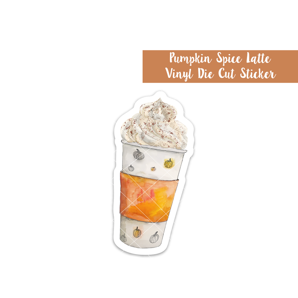 Pumpkin Spice Latte Vinyl Die Cut Sticker (Limited Edition)