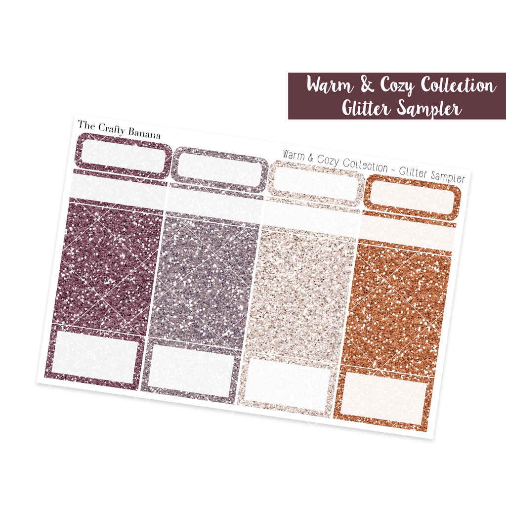 Warm & Cozy Collection: Glitter Sampler
