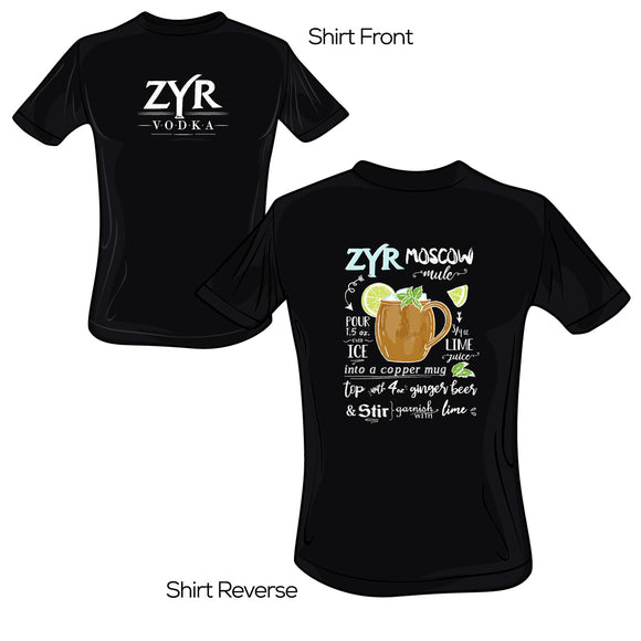 Zyr Vodka Moscow Mule Tee