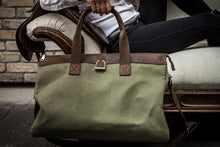 Load image into Gallery viewer, Weekender Bag in Brindle & Sage