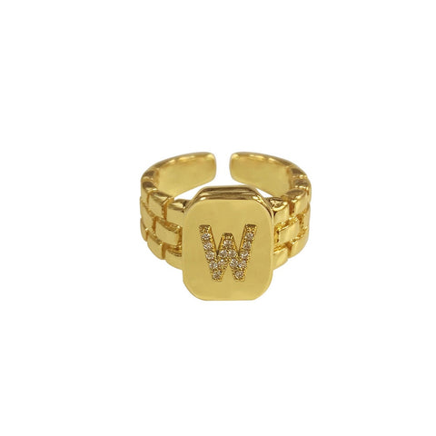 Letter Statement Ring
