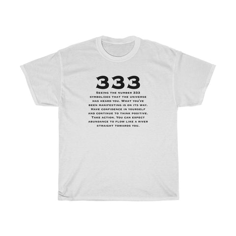 Angel #333 White Graphic Tee