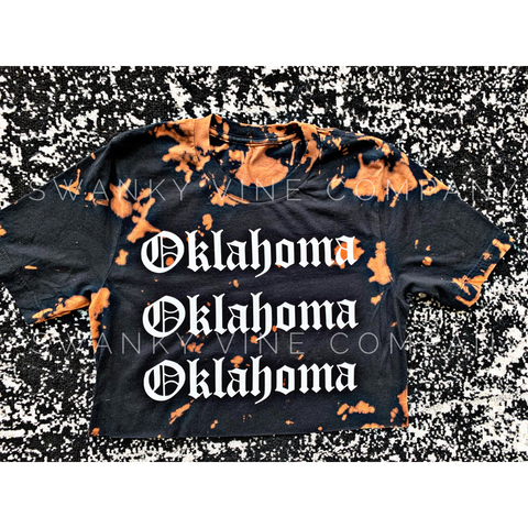 Oklahoma Distressed Tee - Size Small