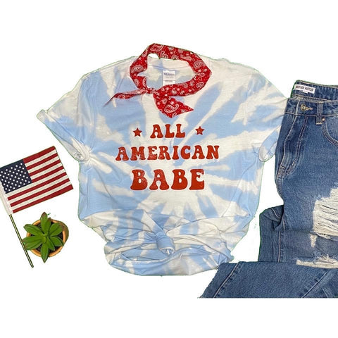 All American Babe Tie Dye Tee