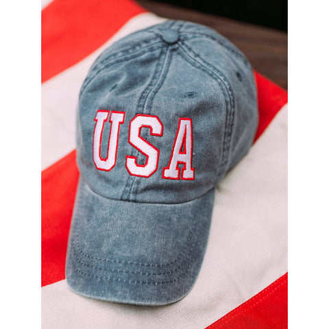 USA Embroidered Baseball Cap