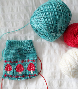 Toadstool Sock Set | stellar sock set | speckled yarn