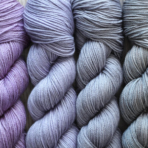 LAVENDER RAYNE FADE | lux sock mini sets | tonal yarn