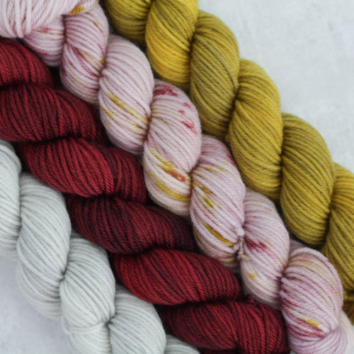 ORCHARD | stellar sock mini set | speckled yarn