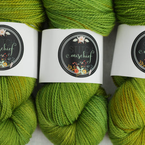 CHARTREUSE | decadent fingering | speckled yarn