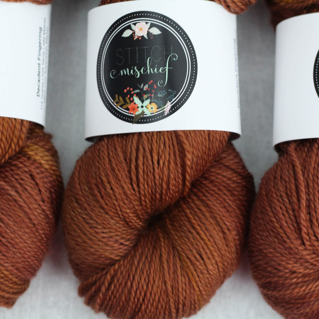 NUTMEG | decadent fingering | speckled yarn