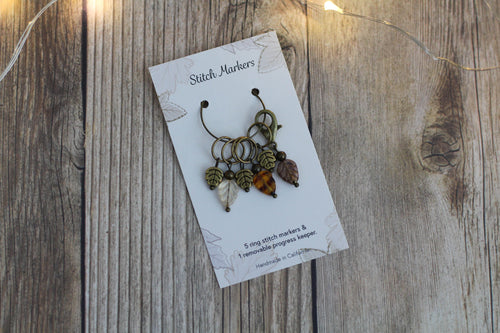 Autumn Leaf Stitch Markers