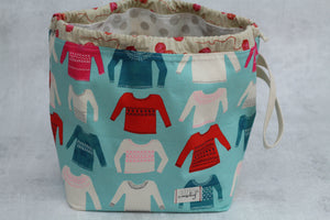 ORIGINAL FINCH BUCKET No. 4 | ready to ship |  large project bag, toy basket, yarn bowl