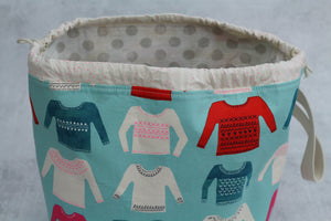 ORIGINAL FINCH BUCKET No.7 | ready to ship |  large project bag, toy basket, yarn bowl