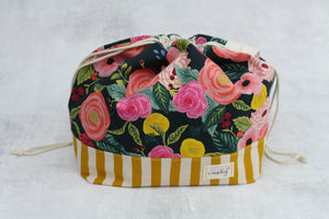 ORIGINAL FINCH BUCKET No. 9 | ready to ship |  large project bag, toy basket, yarn bowl