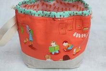 Load image into Gallery viewer, LITTLE FINCH BUCKET No.2 | ready to ship |  medium-large project bag, toy basket, yarn bowl