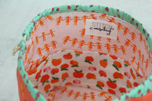 LITTLE FINCH BUCKET No.2 | ready to ship |  medium-large project bag, toy basket, yarn bowl