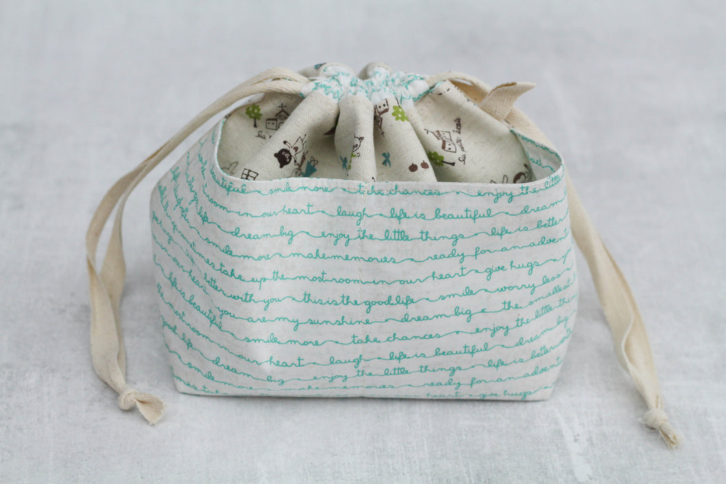 WEE BRAW BAG | ready to ship | small project bag, knitting bag