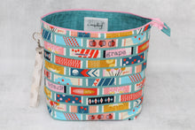 Load image into Gallery viewer, TWIGGY No. 3 | ready to ship -  extra tall + large project bag, fabric yarn bowl, knitting bag, or makeup bag