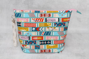 TWIGGY No. 3 | ready to ship -  extra tall + large project bag, fabric yarn bowl, knitting bag, or makeup bag
