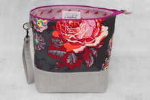 Load image into Gallery viewer, TWIGGY No. 6 | ready to ship -  extra tall + large project bag, fabric yarn bowl, knitting bag, or makeup bag