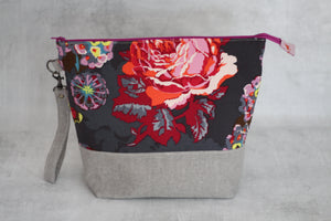 TWIGGY No. 6 | ready to ship -  extra tall + large project bag, fabric yarn bowl, knitting bag, or makeup bag