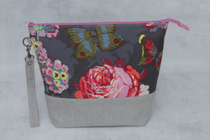 TWIGGY No. 8 | ready to ship -  extra tall + large project bag, fabric yarn bowl, knitting bag, or makeup bag