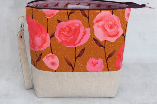 TWIGGY No. 4 | ready to ship -  extra tall + large project bag, fabric yarn bowl, knitting bag, or makeup bag
