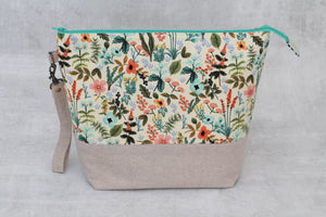 TWIGGY No. 2 | ready to ship -  extra tall + large project bag, fabric yarn bowl, knitting bag, or makeup bag