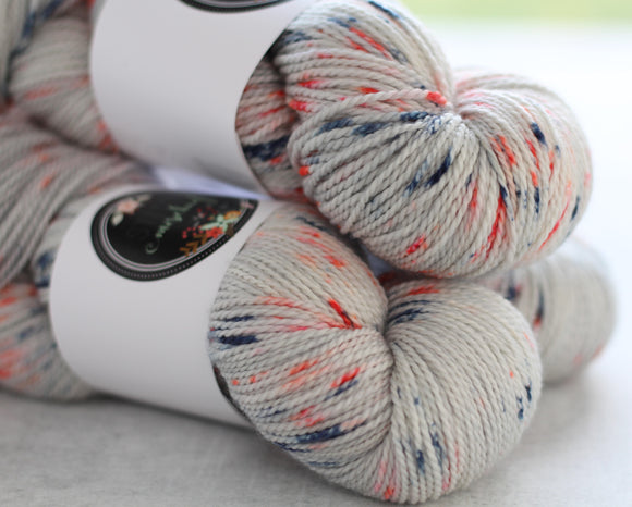 COASTAL | decadent fingering | speckled yarn