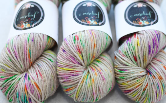 PRISM | decadent worsted | speckled yarn
