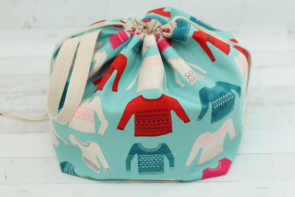 ORIGINAL FINCH BUCKET No. 1 | ready to ship |  large project bag, toy basket, yarn bowl