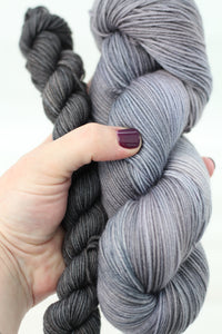 Pewter + Cobblestone | stellar sock set | speckled yarn