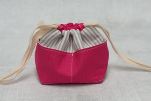 MINI WEE BRAW BAG (7) | ready to ship | compact sock project bag / notions pouch