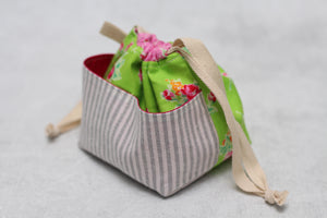 MINI WEE BRAW BAG (3) | ready to ship | compact sock project bag / notions pouch
