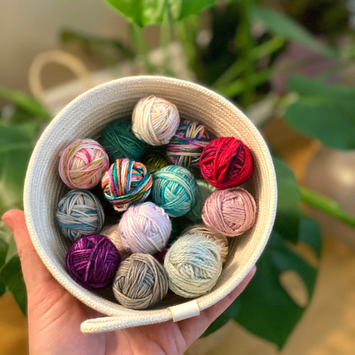 Bits in a Bowl - Rope Bowl/Scrappy Yarns - PREORDER
