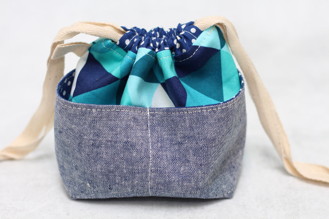MINI WEE BRAW BAG (2) | ready to ship | compact sock project bag / notions pouch